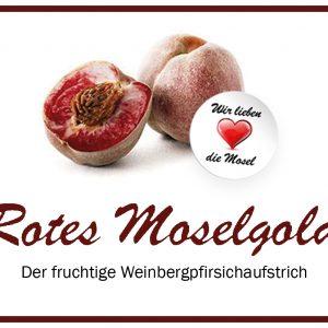3 Gläser Rotes Moselgold a 230ml – Fruchtaufstrich aus Roten Weinbergpfirsichen