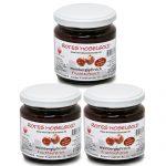 3 Gläser Rotes Moselgold – Fruchtaufstrich aus Roten Weinbergpfirsichen