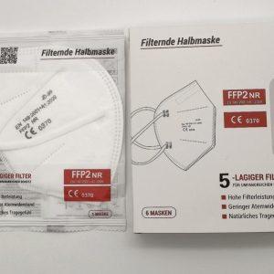Zertifizierte FFP2-Masken Gesichtsmaske FFP 2 mit CE Zeichen in einer Box