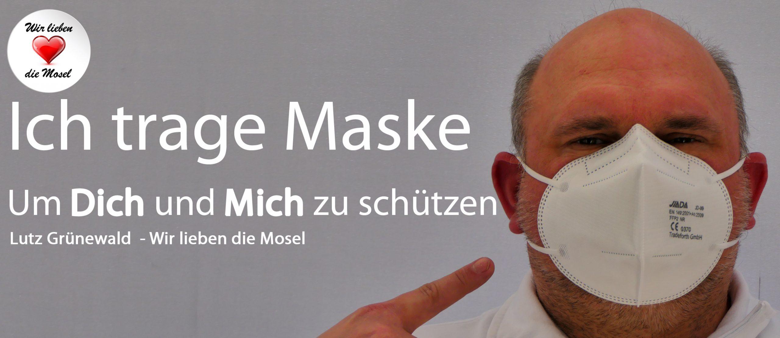 Gesichtsmaske Wir lieben die Mosel mit der Moselskyline