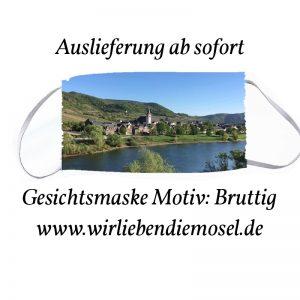 Gesichtsmaske Motiv Bruttig von Wir lieben die Mosel