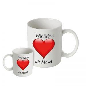 """Kaffeetasse """" Wir lieben die Mosel"""""""